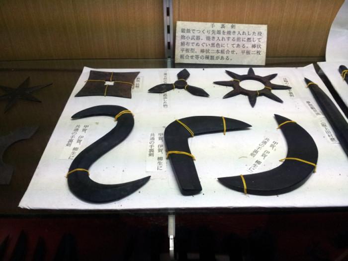 甲賀忍術博物館展示(手裏剣)