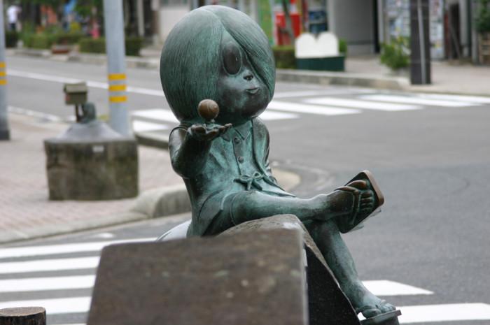 水木しげるロードの鬼太郎像