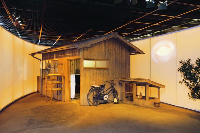安藤百福氏がチキンラーメンを開発した研究小屋の再現
