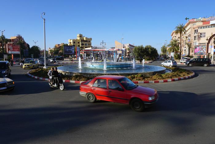 当コーナー担当Fがモロッコで撮影したラウンドアバウト