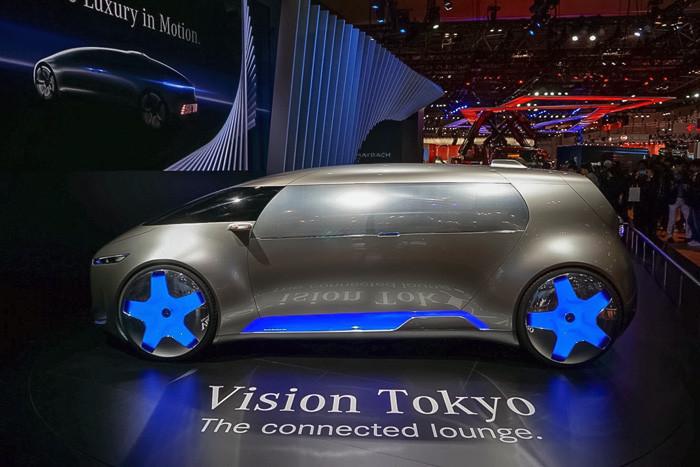 東京モーターショー2015に出品された自動運転車