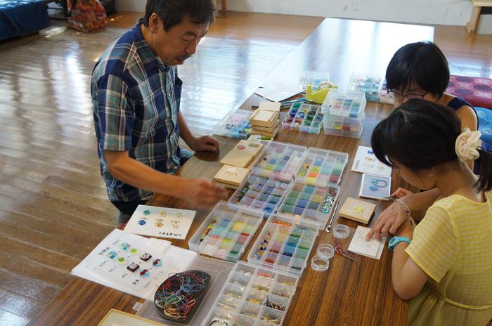「ガラス作り体験」2000円~2500円
