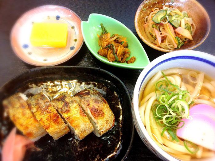 『焼き鯖寿司セット』(1200円税込)