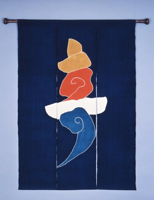 芹沢銈介作「寿の字のれん」(1974) 「静岡県立芹銈介美術館蔵」