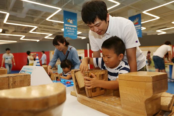 船をつくる技術展示室 ブロックゲーム 提供:大和ミュージアム