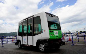 「自動運転サービスの実証実験」ルポ(前編)~運転手のいないバスがついに公道を走った!