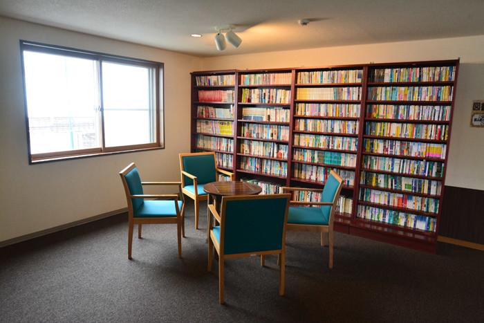 図書コーナー貸出無料 お部屋でゆっくりと!