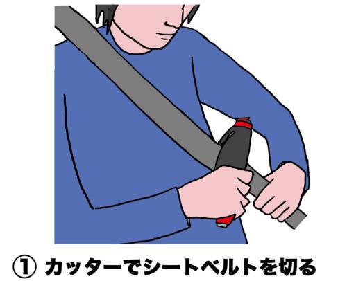 シートベルトを切るweb
