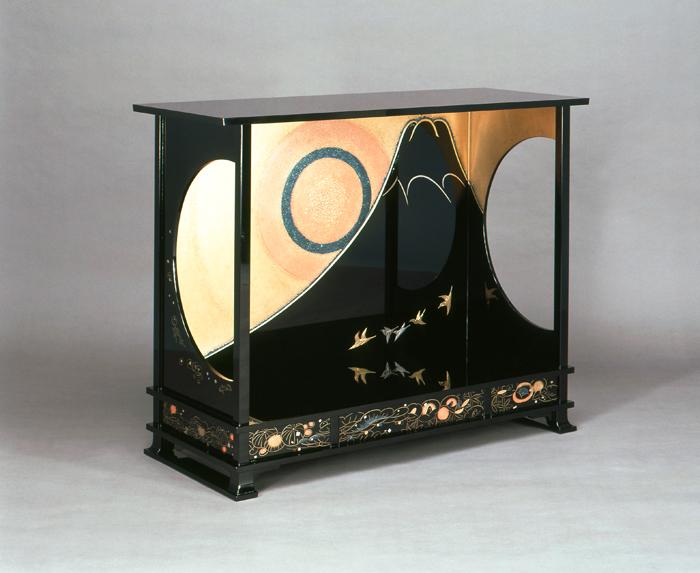 平文富士光々之棚 / 大場松魚作 / 平成7年(1995)第42回日本伝統工芸展