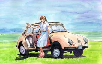 日野浦剛のイラストレーション「一世を風靡したクルマたち」展(3)