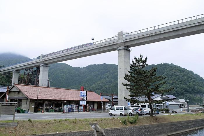 余部鉄橋「空の駅」・エレベーター、道の駅あまるべ2